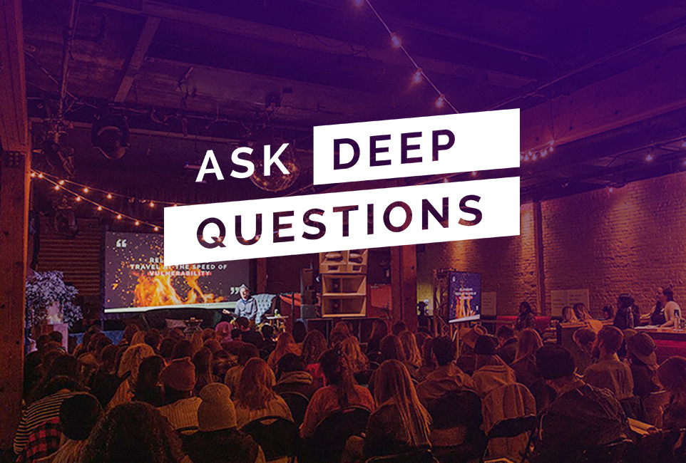 ASK DEEP QUESTIONS | Team Building & Leadership Workshops That Create Psychological Safety logo
