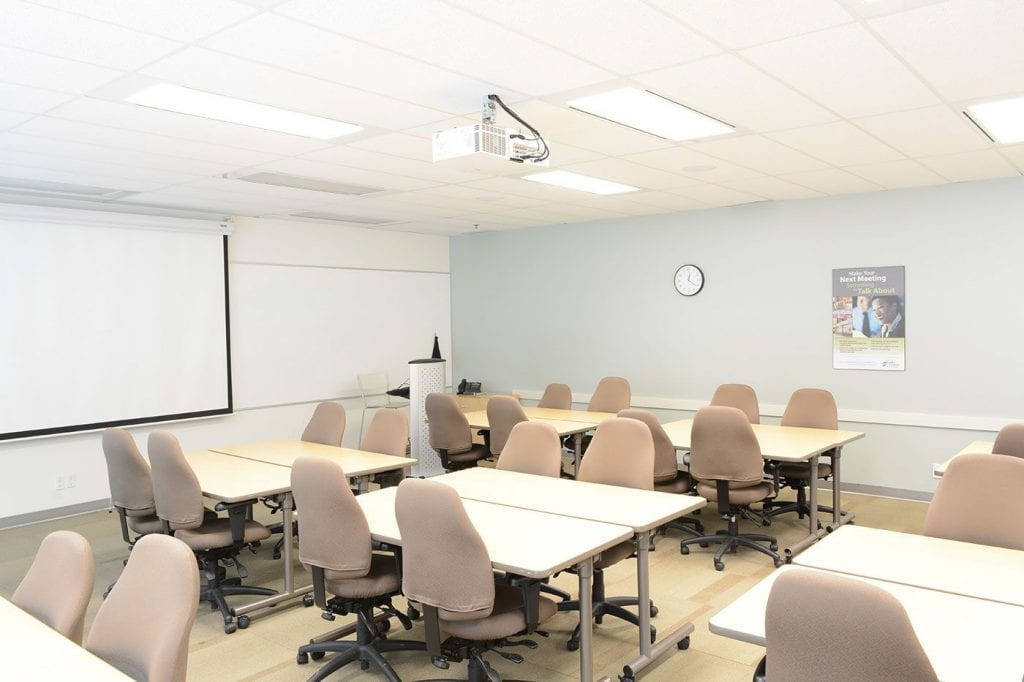 Mississauga Corporate Events & Meetings Centre - Classroom setup