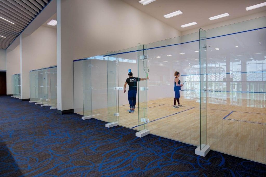 Hotel X Toronto indoor squash courts