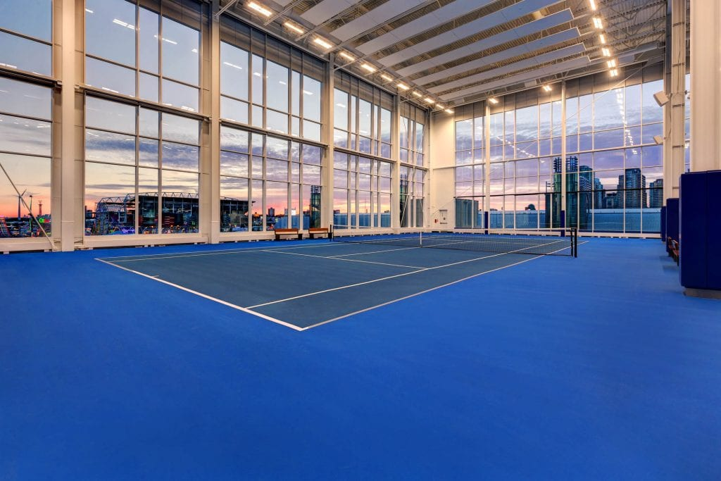 Hotel X Toronto indoor tennis court
