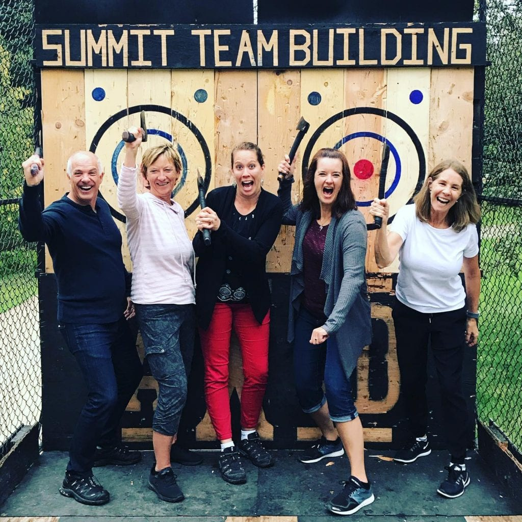 Group Games & Sports Ontario | AXED Throwing | Mobile Axe Throwing for Corporate Events