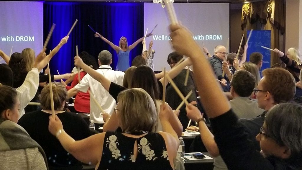 Drumming Exercise Incorporating Movement and Mindfulness