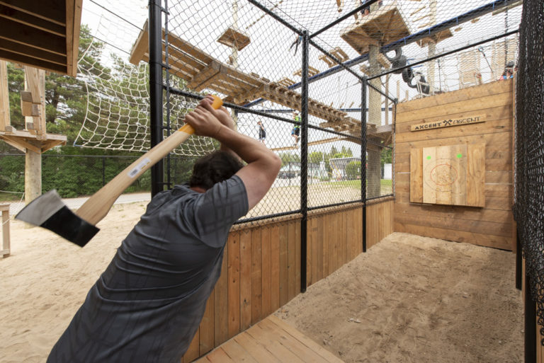 Axe Throwing - Ascent Aerial Park | Adventure Park Overlooking Sauble Beach